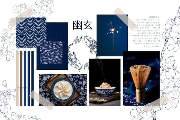 Collage creativo con ideas vector gratuito