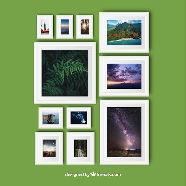 Collage elegante de marcos de fotos con diseño realista | Descargar ...