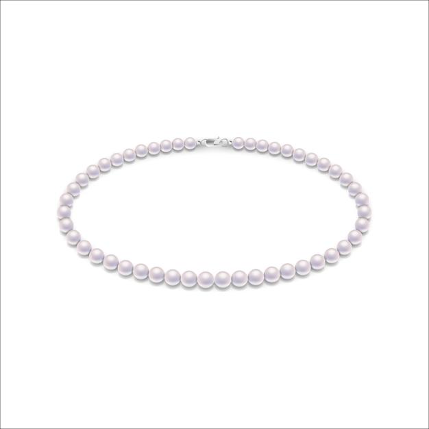 Collar de perlas Vector Premium
