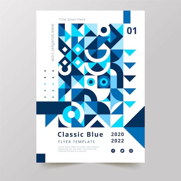 Color del año 2020 plantilla de póster vector gratuito