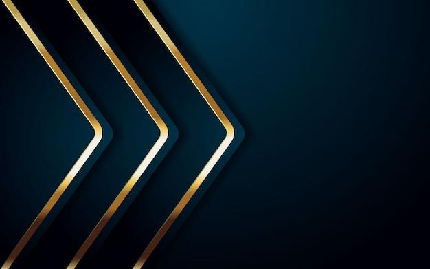 Color de fondo realista con diseño dorado y azul claro. Vector Premium