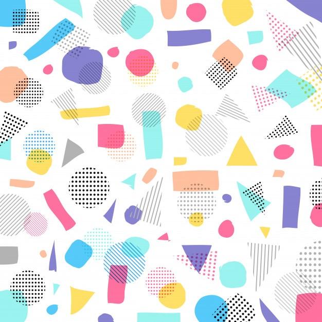 Color de pasteles modernos geométricos abstractos, patrón de puntos ...