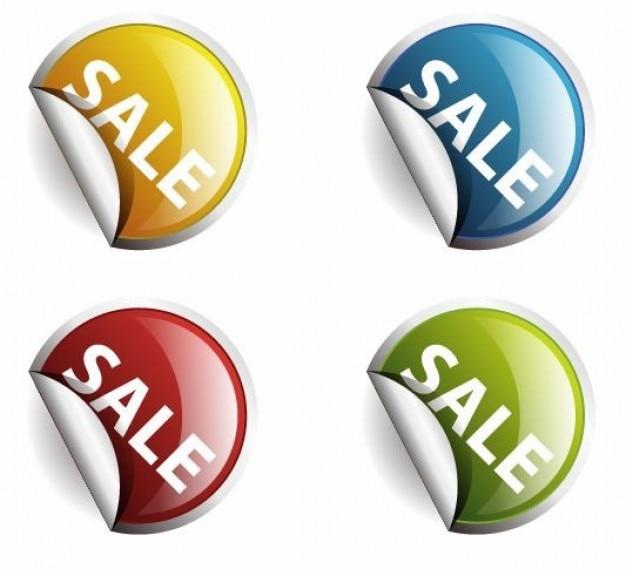 colores alrededor de las etiquetas o pegatinas para la venta Vector Gratis