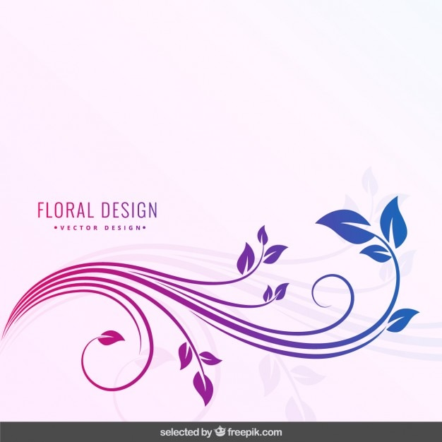 Colores degradados fondo floral vector gratuito