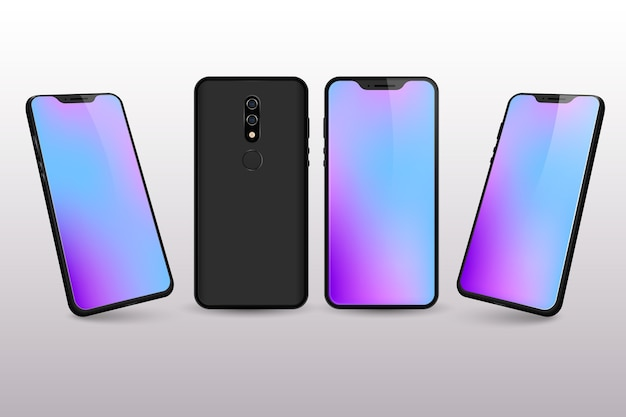 Colores de escritorio degradados del teléfono inteligente vector gratuito