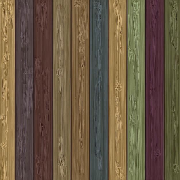 Colores de fondo de madera Vector Premium