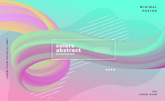 Colores pastel fondo de flujo líquido de onda abstracta vector gratuito