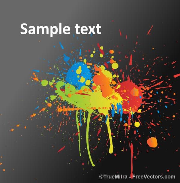 Colores salpicaduras de pintura textura sucia descargar vectores gratis - Salpicaduras de pintura ...
