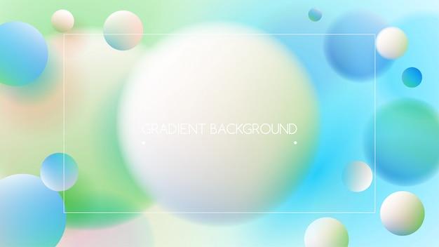 Colores vibrantes azul verde y fondo degradado Vector Premium