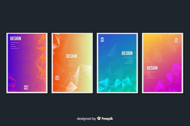 Colorida colección de covers de tecnología vector gratuito