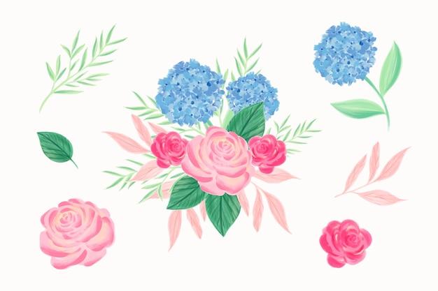 Colorido 2d bouquet floral vector gratuito