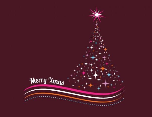 colorido rbol de navidad hecho de estrellas vector gratis