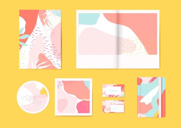 Colorido conjunto de vectores de patrón de memphis vector gratuito