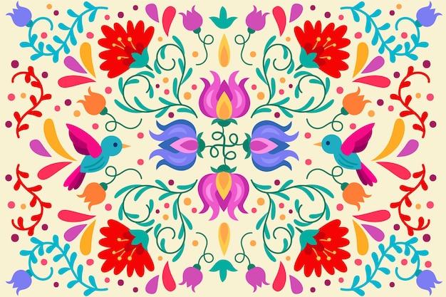 Colorido fondo mexicano vector gratuito