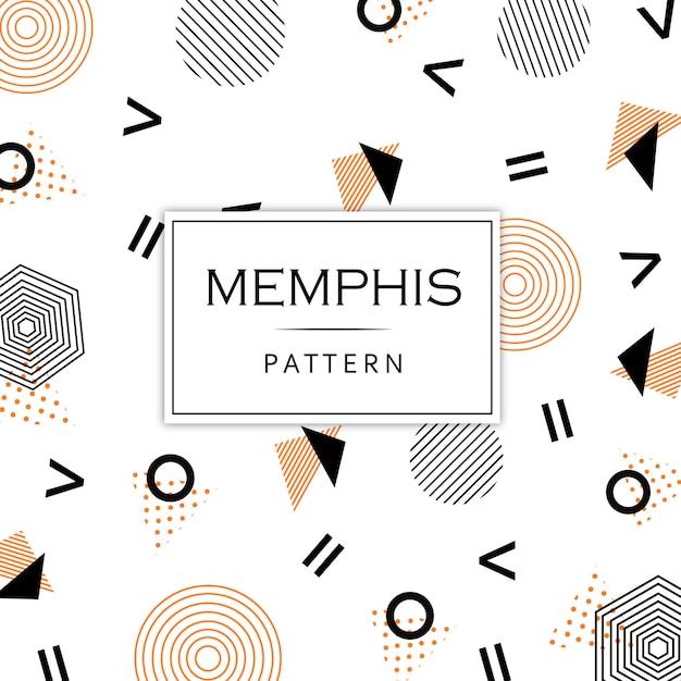 Colorido fondo moderno patrón de memphis | Descargar Vectores Premium