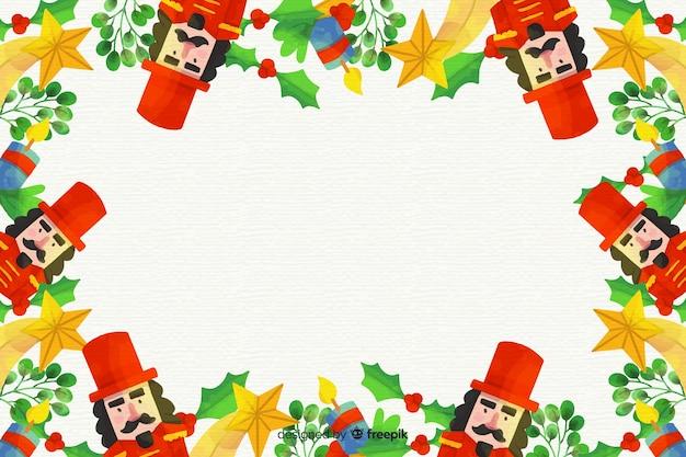 Colorido fondo de navidad acuarela vector gratuito