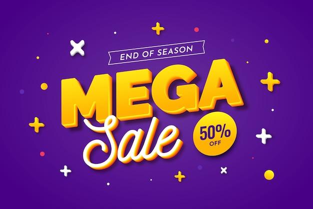 Colorido fondo de ventas 3d con ecuaciones matemáticas vector gratuito