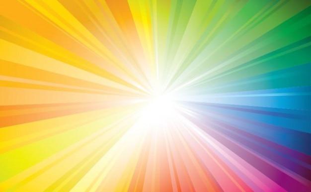 Rayos De Sol Vector: Colorido Rayo De Sol Con Pequeños Rayos