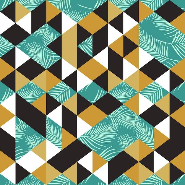 e6f09e6a1e Coloridos patrones sin fisuras de moda con triángulo palma exótica ...