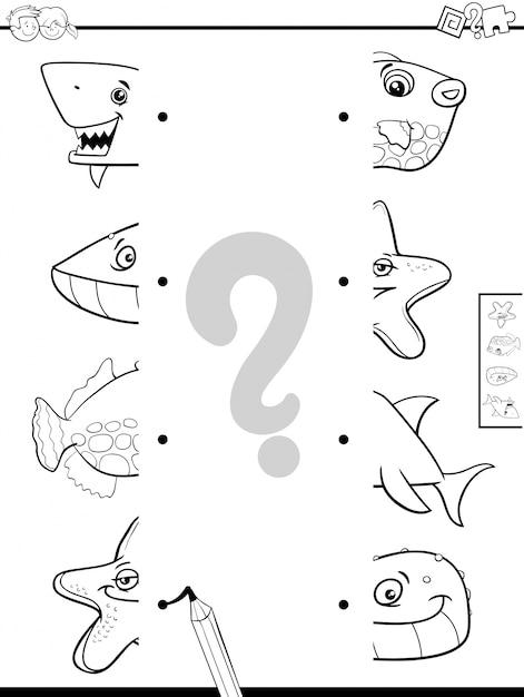 Combinar libro de colorear de mitades de animales | Descargar ...