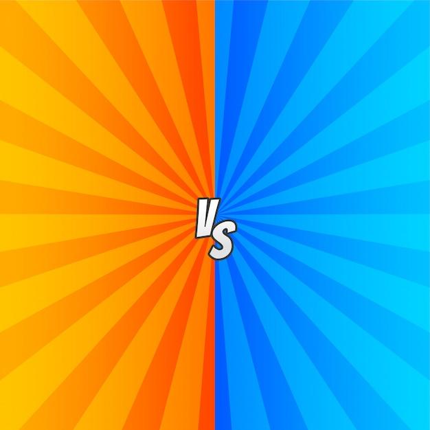 Comic versus con rayos de zoom. vector gratuito