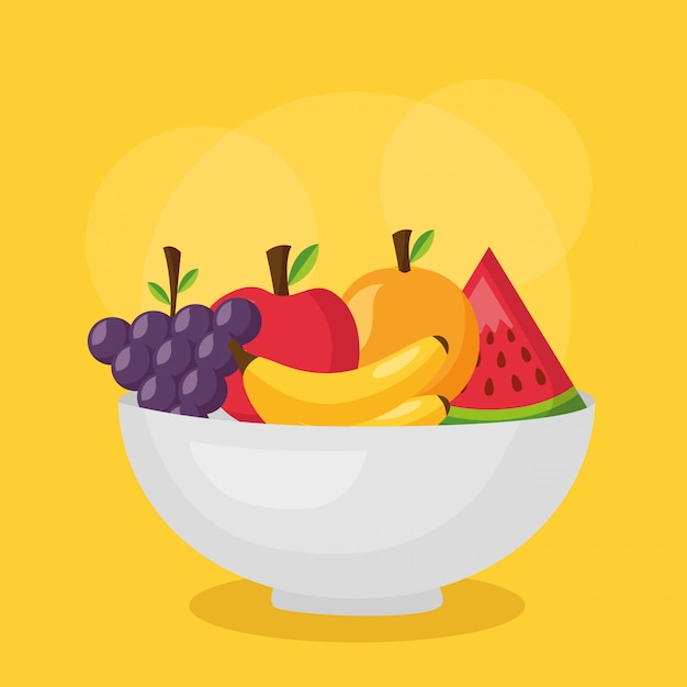 Comida sana fresca vector gratuito