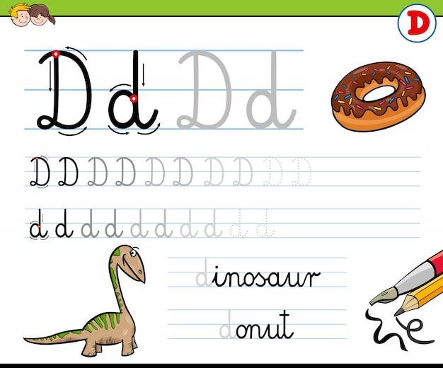 Cómo escribir la hoja de trabajo de la letra d para niños ...