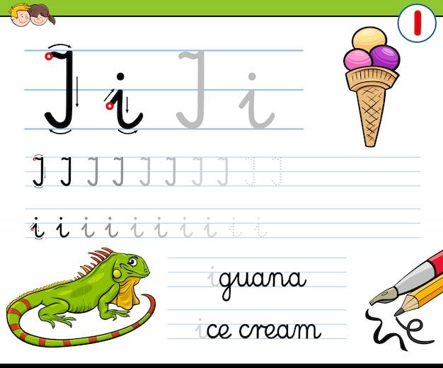 Cómo escribir la hoja de trabajo de la letra i para niños ...