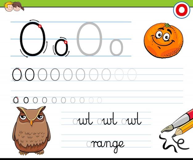 Cómo escribir la hoja de trabajo de la letra o para niños ...