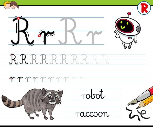 Cómo escribir la hoja de trabajo de la letra r para niños ...