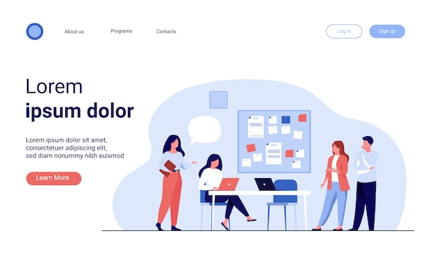 Compañeros trabajando juntos en el proyecto vector gratuito