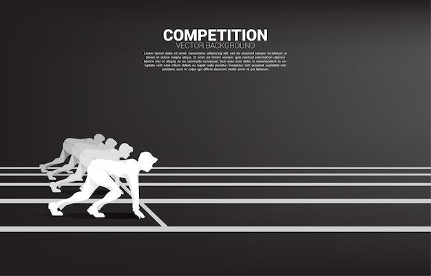 Competencia empresarial y plantilla de desafío Vector Premium
