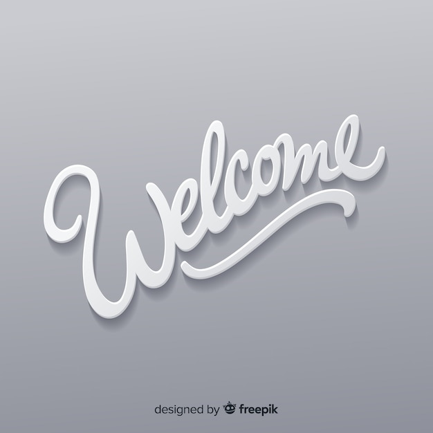 Composición adorable de bienvenida con estilo de origami vector gratuito