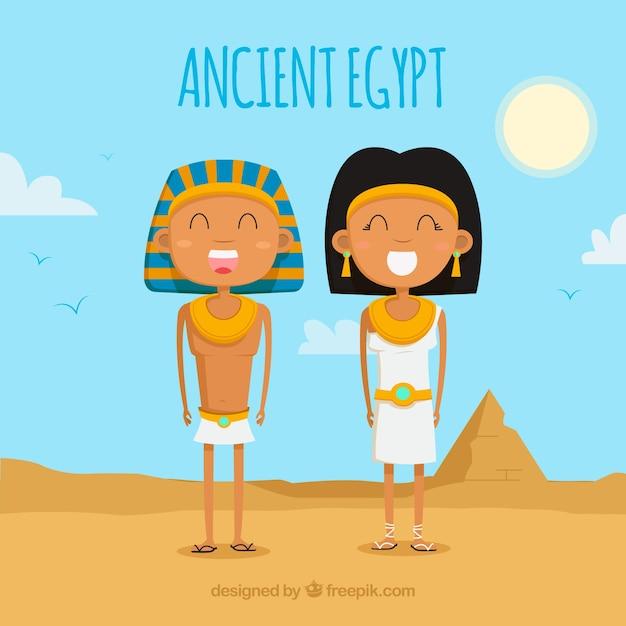 Composición del antiguo egipto con diseño plano vector gratuito