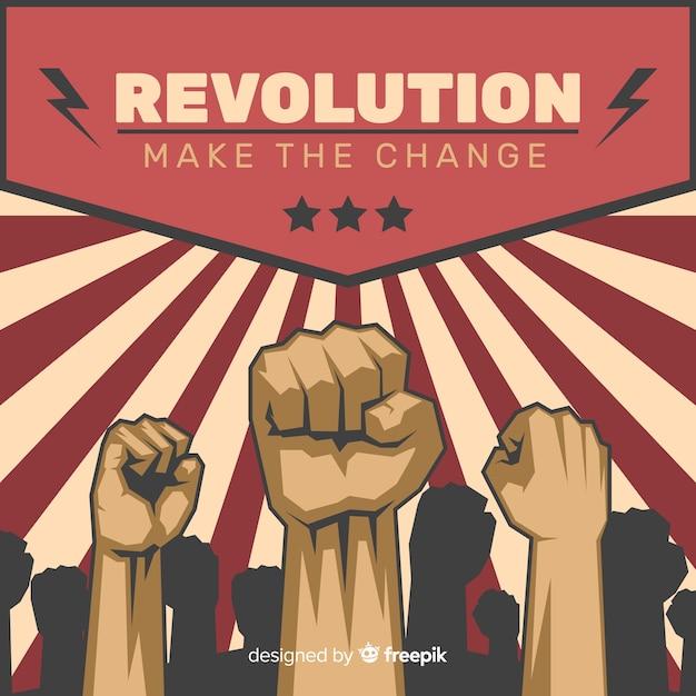 Composición clásica de revolución con estilo vintage vector gratuito