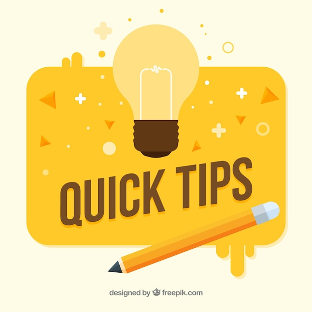 Composición colorida de consejos con diseño plano vector gratuito