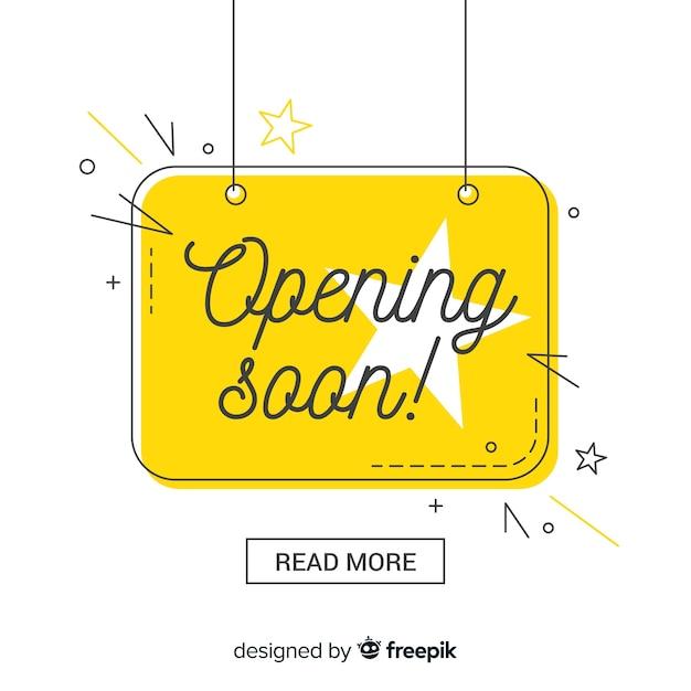 Composición colorida de inauguración con diseño plano vector gratuito