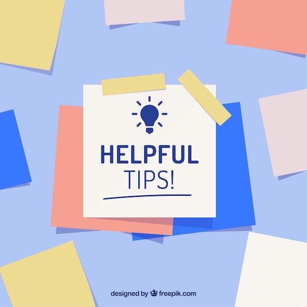 Composición de consejo útil con diseño plano vector gratuito