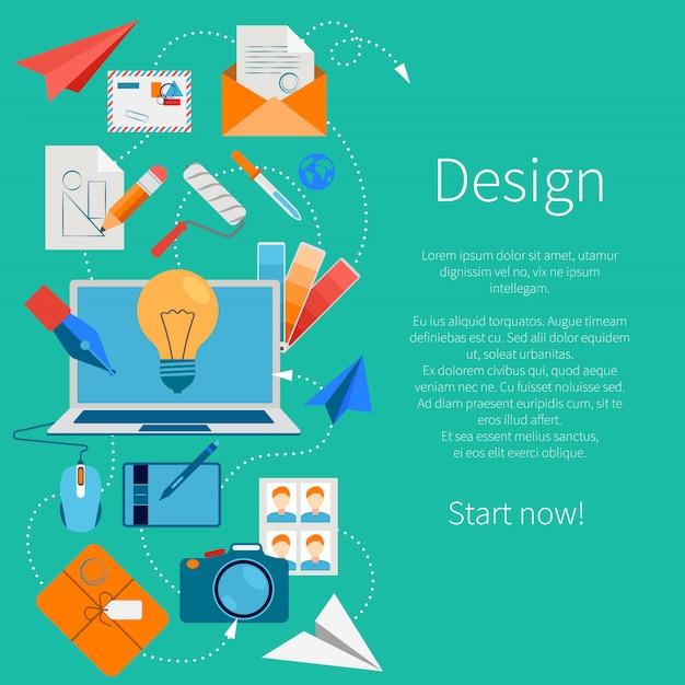 Composición de desarrollo de diseño vector gratuito
