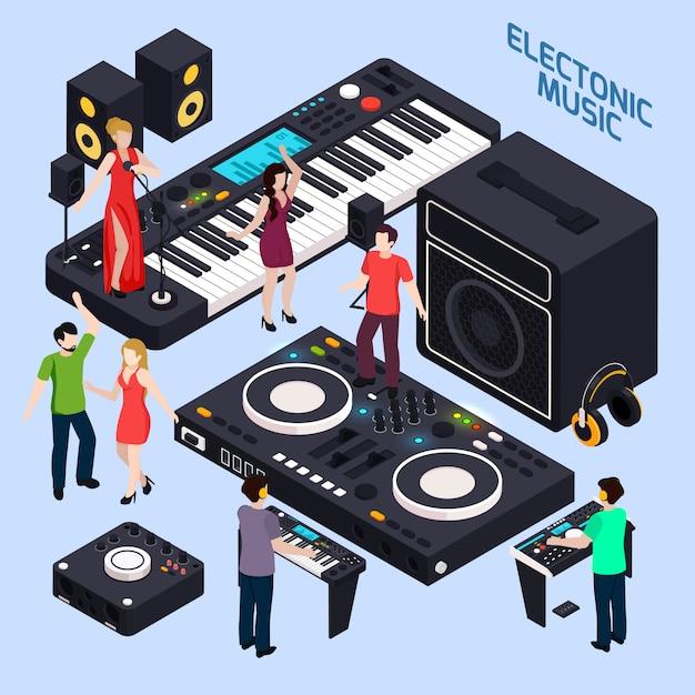 Composición electrónica de música dance vector gratuito
