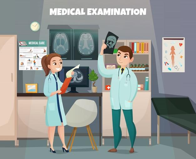 Composición de laboratorio de pruebas clínicas vector gratuito
