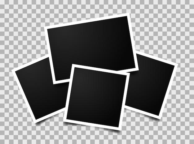 Composición de marcos de fotos vacíos. Vector Premium