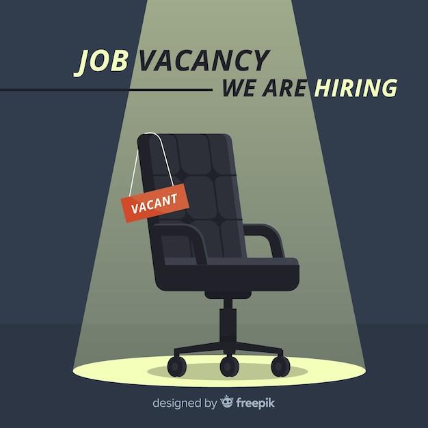 Composición moderna de oferta de empleo vector gratuito