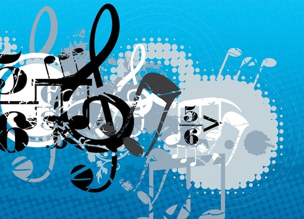 composición musical Vector Gratis