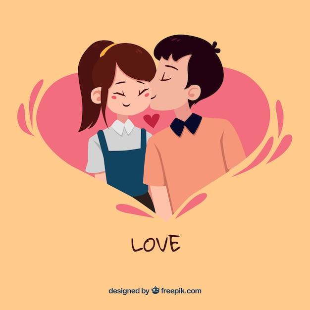 Composición original de amor con estilo moderno vector gratuito