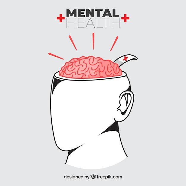 Composición de salud mental con diseño plano vector gratuito