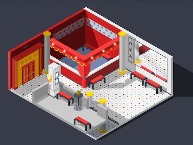 Composición del teatro vector gratuito
