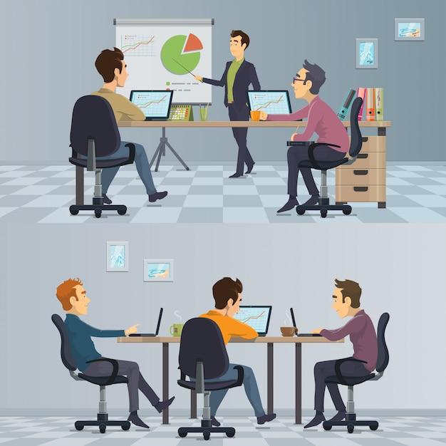 Composición de trabajo en equipo empresarial vector gratuito