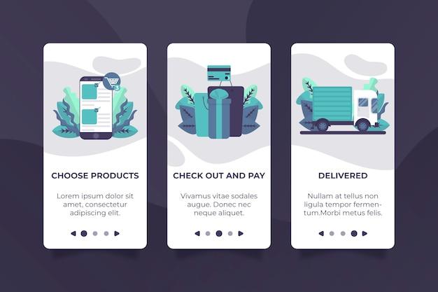 Compra el diseño de la aplicación de incorporación en línea vector gratuito