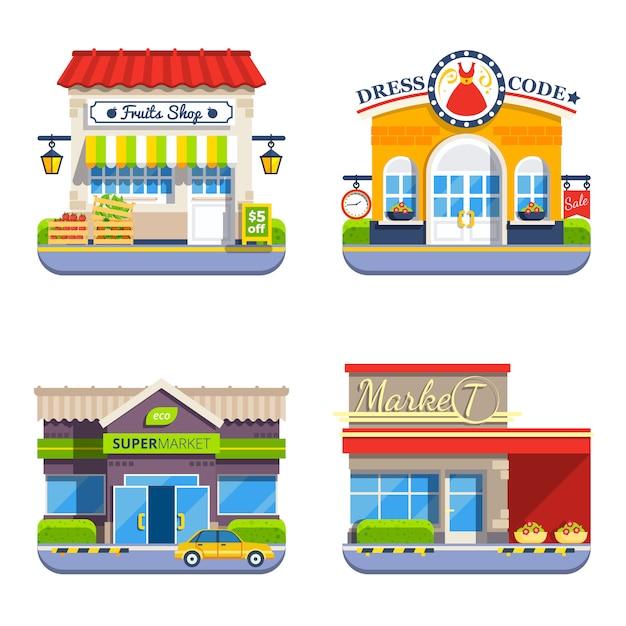 Comprar colección de iconos de colores planos vector gratuito